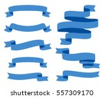 Collection of Ribbons - With blue ribbons - vector eps10 | Shutterstock vector #557309170