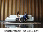 businessman and businesswoman... | Shutterstock . vector #557313124
