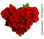 heart shaped bouquet of red... | Shutterstock . vector #557320273