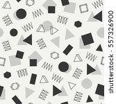 retro memphis geometric line... | Shutterstock .eps vector #557326900
