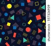 retro memphis geometric line... | Shutterstock .eps vector #557326939