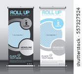 roll up brochure flyer banner... | Shutterstock .eps vector #557327524