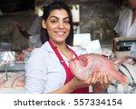 Beautiful Woman Selling Fresh...