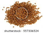 pet food into the bowl for... | Shutterstock . vector #557336524