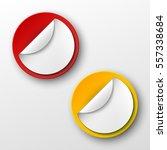 design round shape. origami... | Shutterstock .eps vector #557338684