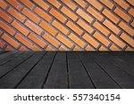 wooden board empty table in... | Shutterstock . vector #557340154