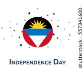independence day of antigua and ... | Shutterstock .eps vector #557341600