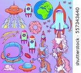 set the spacecraft. different... | Shutterstock .eps vector #557343640
