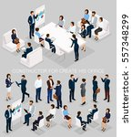 business people isometric set... | Shutterstock .eps vector #557348299