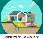 green energy and eco friendly... | Shutterstock .eps vector #557350570