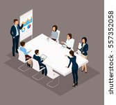 isometric people  businessmen... | Shutterstock .eps vector #557352058