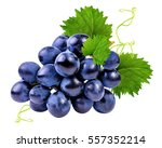 Grapes Isolated On The White...