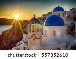 picturesque white church with... | Shutterstock . vector #557352610
