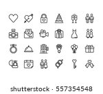 love and wedding icon set | Shutterstock .eps vector #557354548