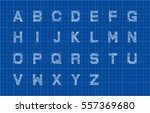 sketch alphabet or font over... | Shutterstock .eps vector #557369680