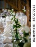 wedding reception | Shutterstock . vector #557370163