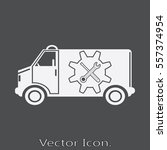 car service icon isolated sign... | Shutterstock .eps vector #557374954