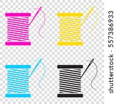 thread with needle sign...   Shutterstock .eps vector #557386933