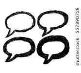 vector hand drawn bubble speech ... | Shutterstock .eps vector #557390728