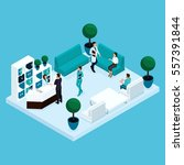 set trendy isometric people.... | Shutterstock .eps vector #557391844