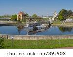moden urban wastewater... | Shutterstock . vector #557395903
