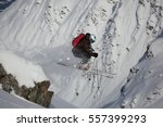free rider makes a jump in deep ... | Shutterstock . vector #557399293