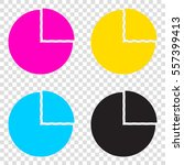 business graph sign. cmyk icons ... | Shutterstock .eps vector #557399413