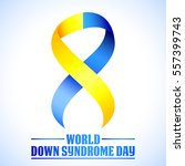 world down syndrome day. symbol ... | Shutterstock .eps vector #557399743