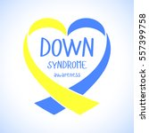world down syndrome day. symbol ... | Shutterstock .eps vector #557399758