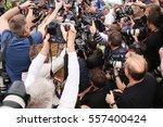 photographers attends the ... | Shutterstock . vector #557400424