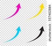 growing arrow sign. cmyk icons...