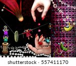 illustration with fairies and... | Shutterstock . vector #557411170