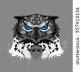 fabulous abstract owl | Shutterstock .eps vector #557413156