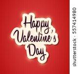 happy valentine's day | Shutterstock .eps vector #557414980