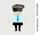 man in glasses for virtual... | Shutterstock .eps vector #557417050