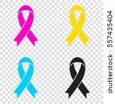 black awareness ribbon sign.... | Shutterstock .eps vector #557435404
