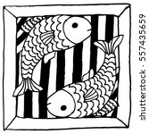 horoscope  zodiac sign. doodle... | Shutterstock .eps vector #557435659