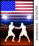 usa boxing event with stadium... | Shutterstock .eps vector #55743790