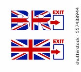 brexit symbol. united kingdom... | Shutterstock .eps vector #557438944