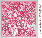 die cut card. laser cut vector... | Shutterstock .eps vector #557445760