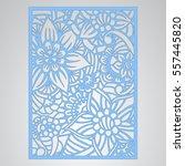 die cut card. laser cut vector... | Shutterstock .eps vector #557445820