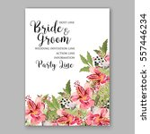 alstroemeria wedding invitation ... | Shutterstock .eps vector #557446234