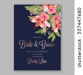alstroemeria wedding invitation ... | Shutterstock .eps vector #557447680