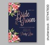 alstroemeria wedding invitation ... | Shutterstock .eps vector #557447830