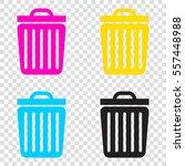 trash sign illustration. cmyk... | Shutterstock .eps vector #557448988
