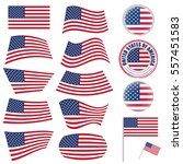 united states of america flag... | Shutterstock .eps vector #557451583
