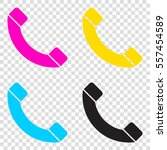 phone sign illustration. cmyk...