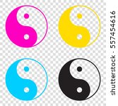 ying yang symbol of harmony and ... | Shutterstock .eps vector #557454616