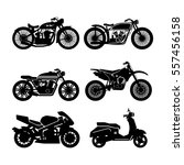 motorcycle black icons set.... | Shutterstock .eps vector #557456158
