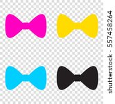 bow tie icon. cmyk icons on... | Shutterstock .eps vector #557458264